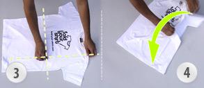 t-shirt in 2 sekunden falten video er