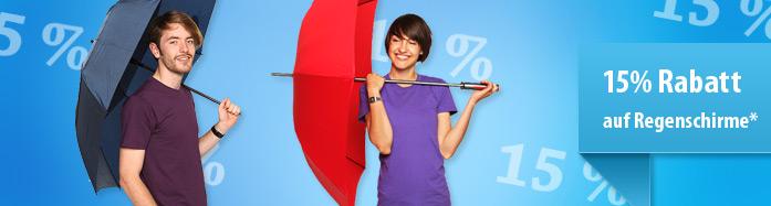 Ein Regenschirm bedrucken und 15% sparen