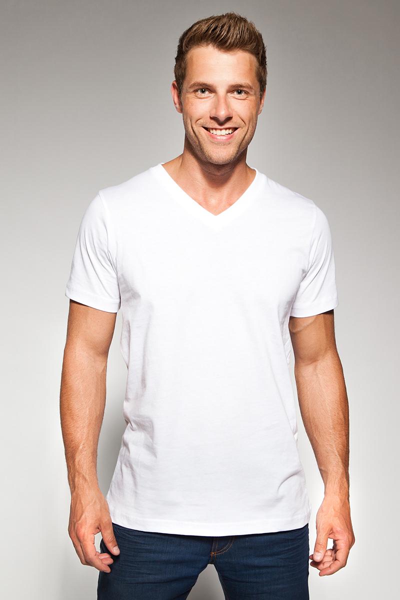 Mnner V Kragen T Shirt Mit Eigenem Aufdruck