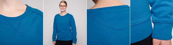 Frauen Sweatshirt in Detailansicht