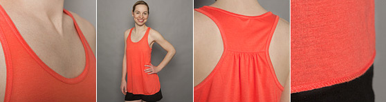 Frauen Tank Top in Detailansicht