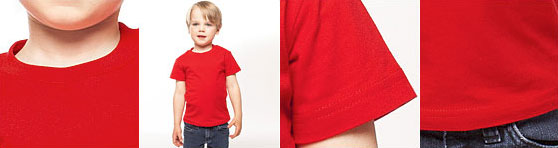 American Apparel Kindershirt in der Detailansicht
