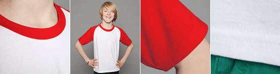 Kinder Baseball T-Shirt in der Detailansicht