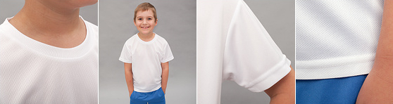 Kinder Sport T-Shirt in Detailansicht