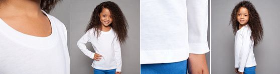Kinder Langarm-Shirt in Detailansicht