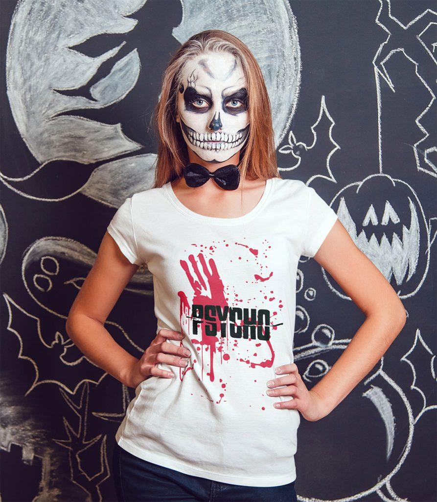 halloween t shirt selbst gestalten passend zu make up oder maske. Black Bedroom Furniture Sets. Home Design Ideas