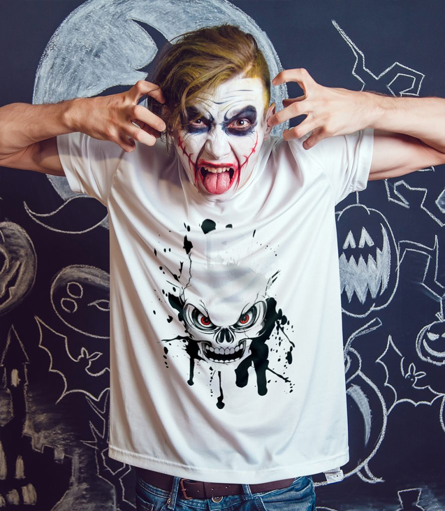 halloween t shirt selbst gestalten passend zu make up. Black Bedroom Furniture Sets. Home Design Ideas