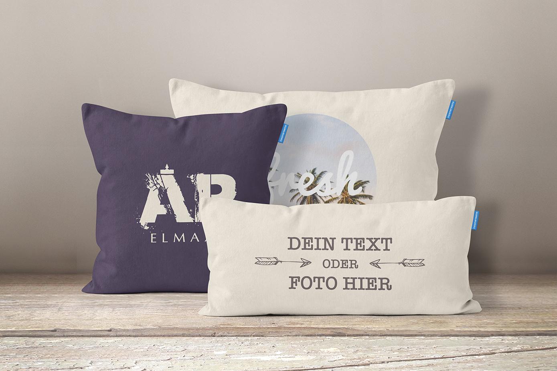 kissen selbst gestalten und bedrucken lassen mit eigenem text oder foto. Black Bedroom Furniture Sets. Home Design Ideas