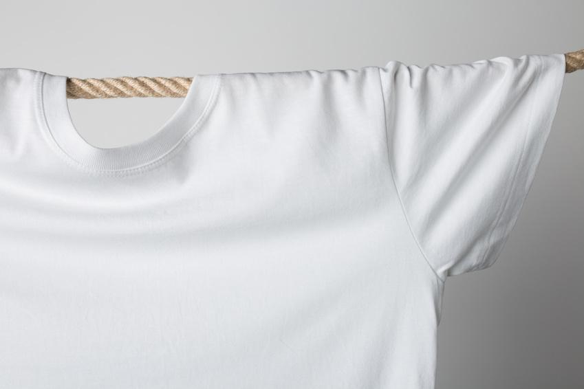 T-Shirt auf der Leine