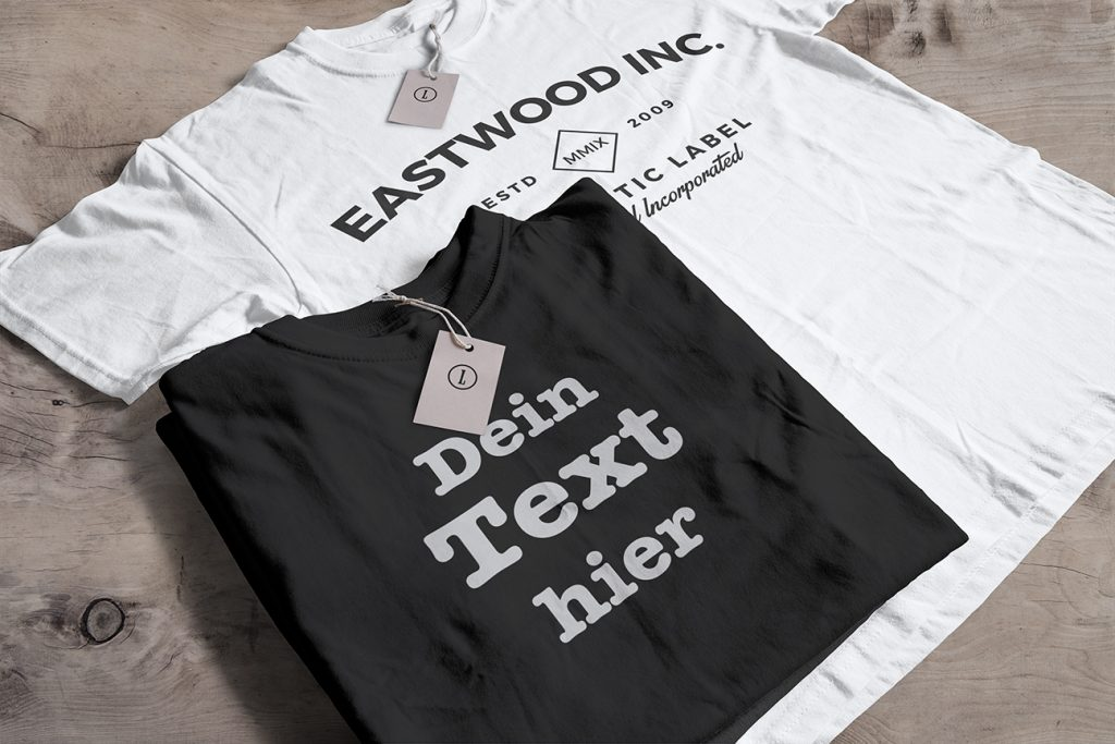 t shirt mit text bedrucken und mit individueller. Black Bedroom Furniture Sets. Home Design Ideas