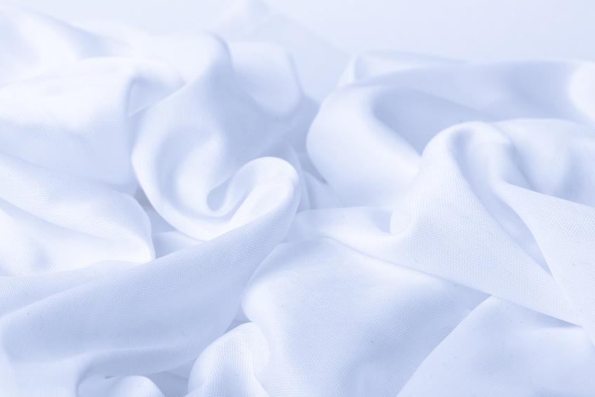 Weißer Viskose-Stoff