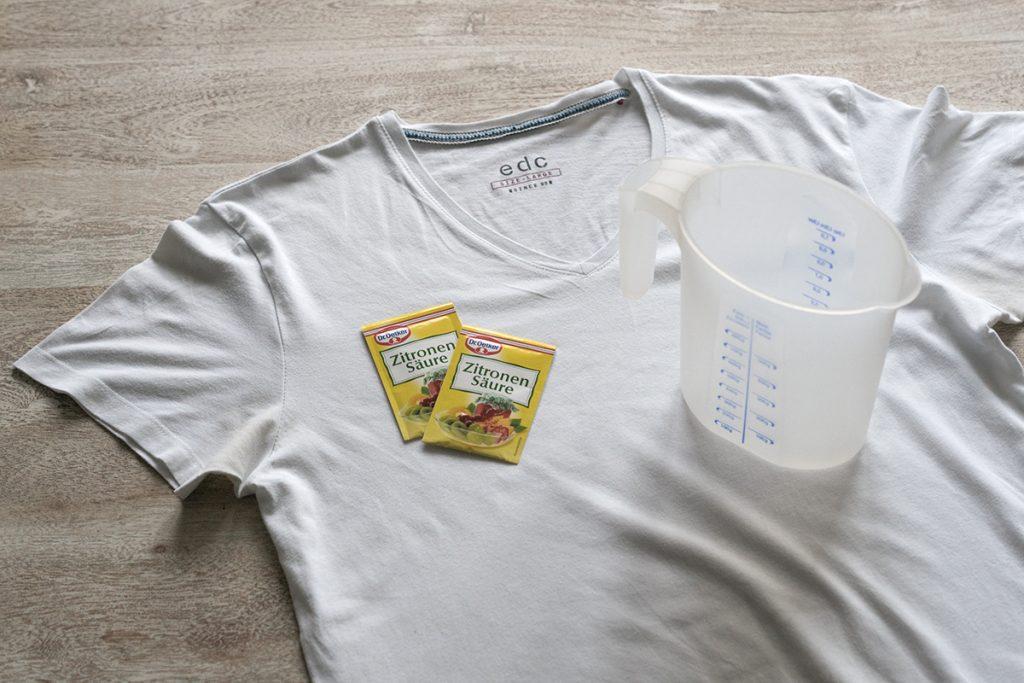 Zitronensäure Hausmittel gegen gelbe Flecken